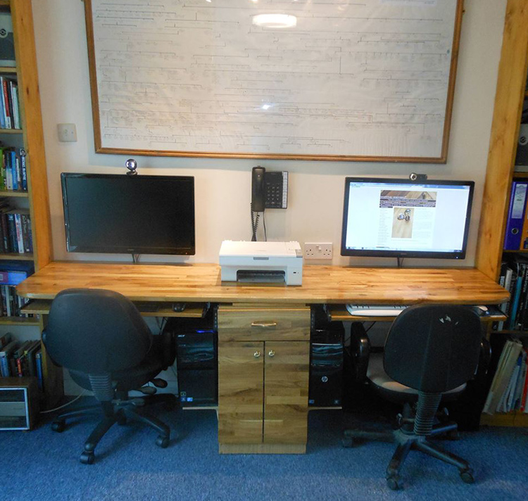 home office desk worktops. Using Wooden Worktops For Desks: A Nutshell Guide | Worktop Express Information Guides Home Office Desk L