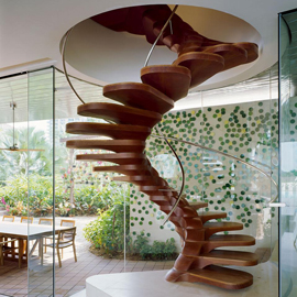 Wooden Staircase by YTL