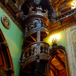 Spiralled staircase in the Peleş Castle