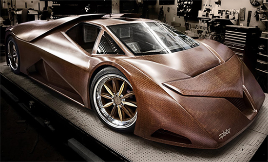 Wacky Wood Uses: Wooden Supercar!