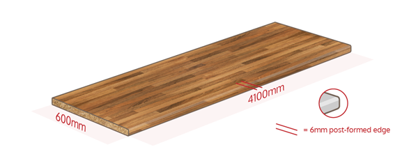 Walnut Effect Work Surface Dimensions