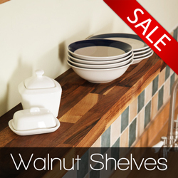 View the full range of our walnut floating shelves
