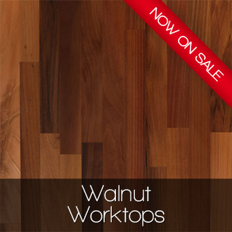 Walnut worktops now on sale