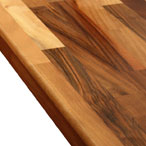 Walnut worktop with pencil top edge profile