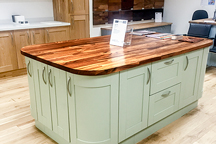 Zebrano Kitchen Island - Warrington Worktop Showroom