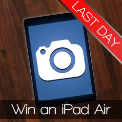 Last day for to win an iPad Air