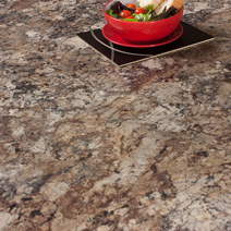 Our Winter Carnival laminate worktops are a traditional granite-effect surface that is perfect for a classic kitchen.