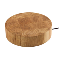Solid Oak Worktop Wireless Charger for Wooden Worktops.