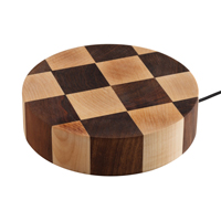 Solid Maple & Walnut Worktop Wireless Charger for Wooden Worktops.