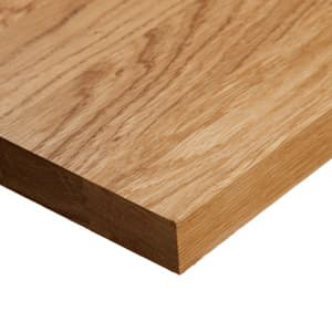 Solid wood, oak worktop