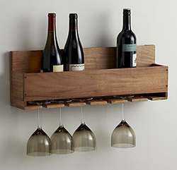 The Wine-Stem Rack Solid Wood Kitchen Workbenches