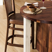 Our wooden breakfast bar legs are ideal accessories for solid wood breakfast bars.