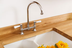 Kitchen worktop upstands help to hide the necessary expansion gap behind a kitchen worktop.