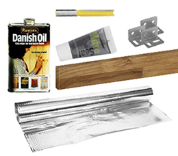Worktop accessories for solid wood kitchen work tops