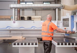 Our sophisticated machinery allows us to cut wooden worktops with incredible precision.