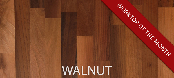 Lustrous European walnut is an excellent choice for wooden worksurfaces.