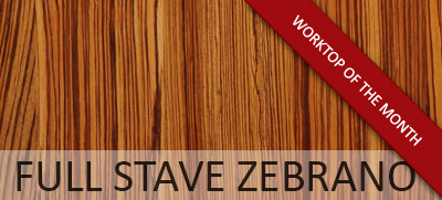 Worktop of the Month: Full Stave Zebrano
