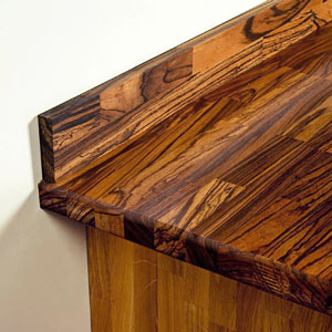 Choose solid wood upstands to help your wooden worktop blend seamlessly into your kitchen.