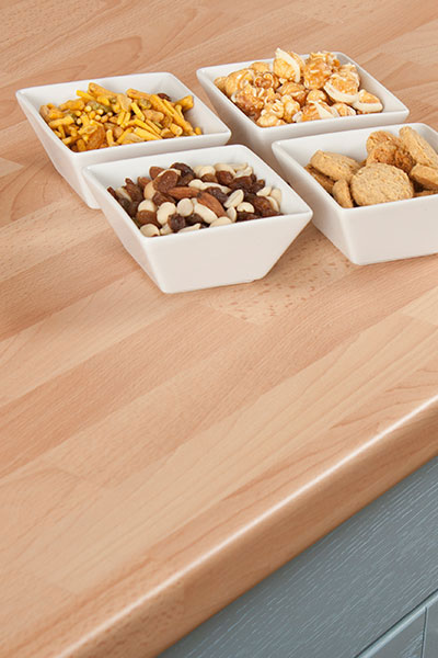 Discover more images of our Beech Block laminate worktop range