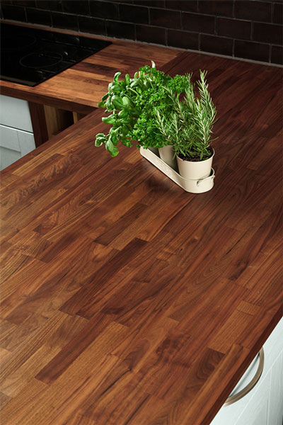 Discover more images of our Black American Walnut worktop range