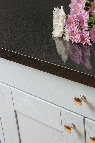 Discover more images of our Black Gloss Constellation laminate worktop range