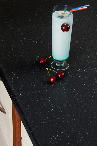 Discover more images of our Black Star Earthstone worktop range