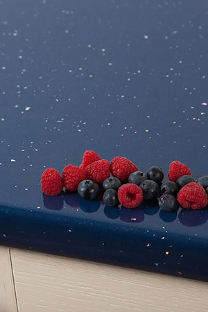 Discover more images of our Blue Sparkle Andromeda laminate worktop range