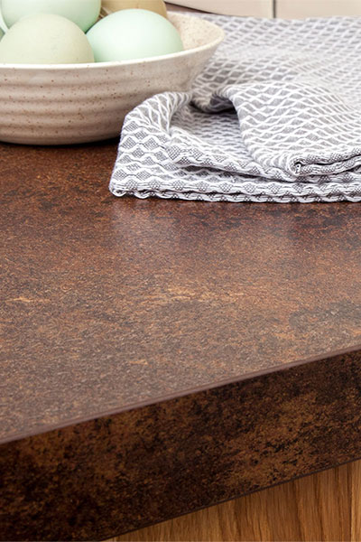 Discover more images of our Copper Effect laminate worktop range