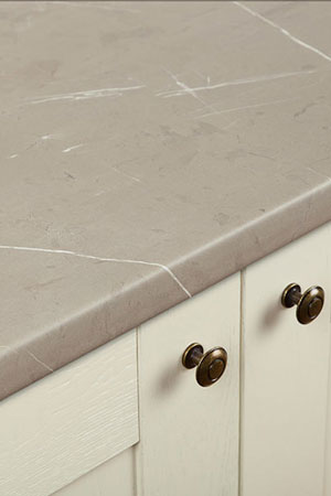 Discover more images of our Cream Stone laminate worktop range