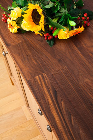 Discover more images of our Deluxe Black American Walnut worktop range