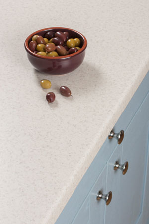 Discover more images of our Duropal Glacial Storm laminate worktop range