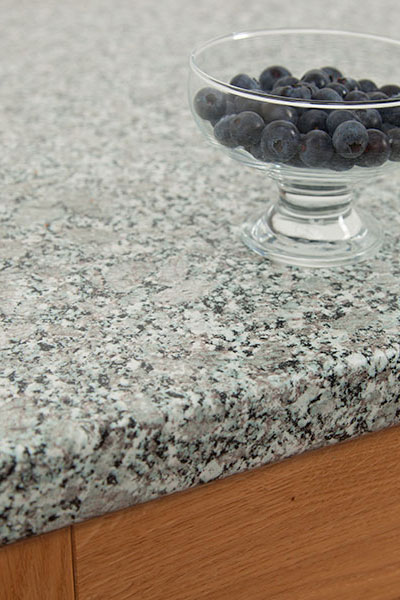 Discover more images of our Grey Granite laminate worktop range