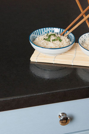 Discover more images of our Lunar Night laminate worktop range