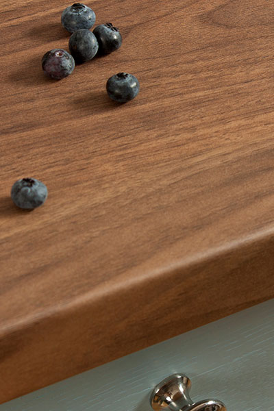 Discover more images of our Romantic Dark Walnut laminate worktop range