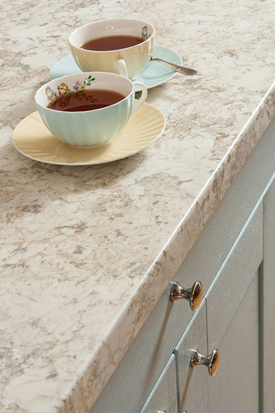 Discover more images of our Spring Carnival White Granite laminate worktop range