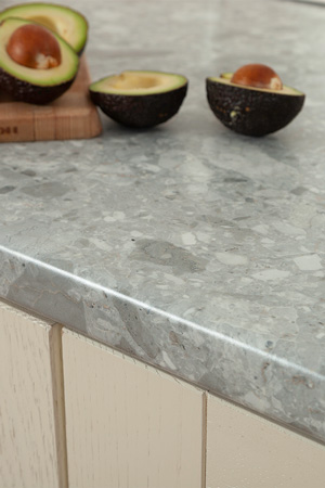 Discover more images of our Trebbia Stone laminate worktop range