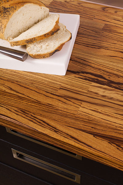 Discover more images of our Zebrano worktop range
