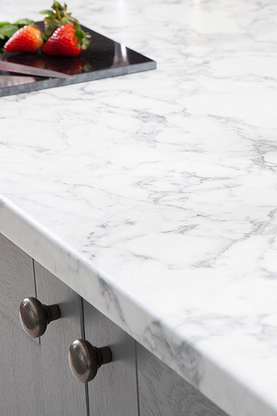 Discover more images of our Marble Calcutta laminate worktop range