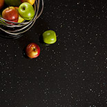 Black Sparkle Laminate Worktops - Andromeda