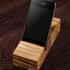 Solid Wood iPhone Stands / Mobile Phone Holders