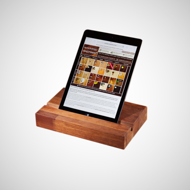 Wooden iPad / Tablet Stands for Christmas