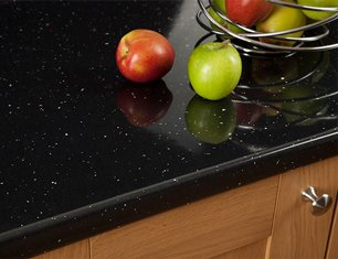 Black sparkle laminate worktops
