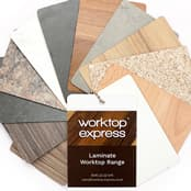Laminate worktops samples
